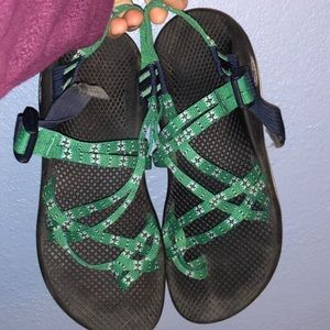 Women's green Chacos size 9